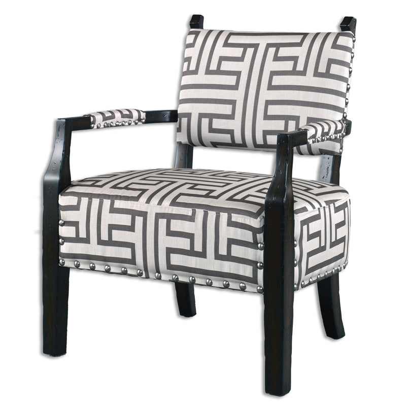 Terica Geometric Accent Chair