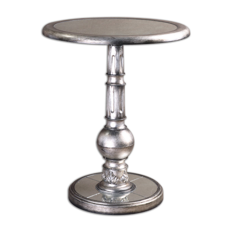 Baina Silver Accent Table