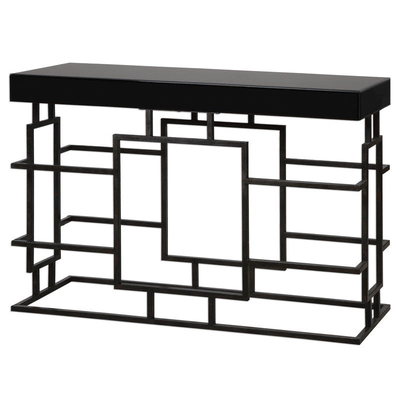 Andy Black Console Table
