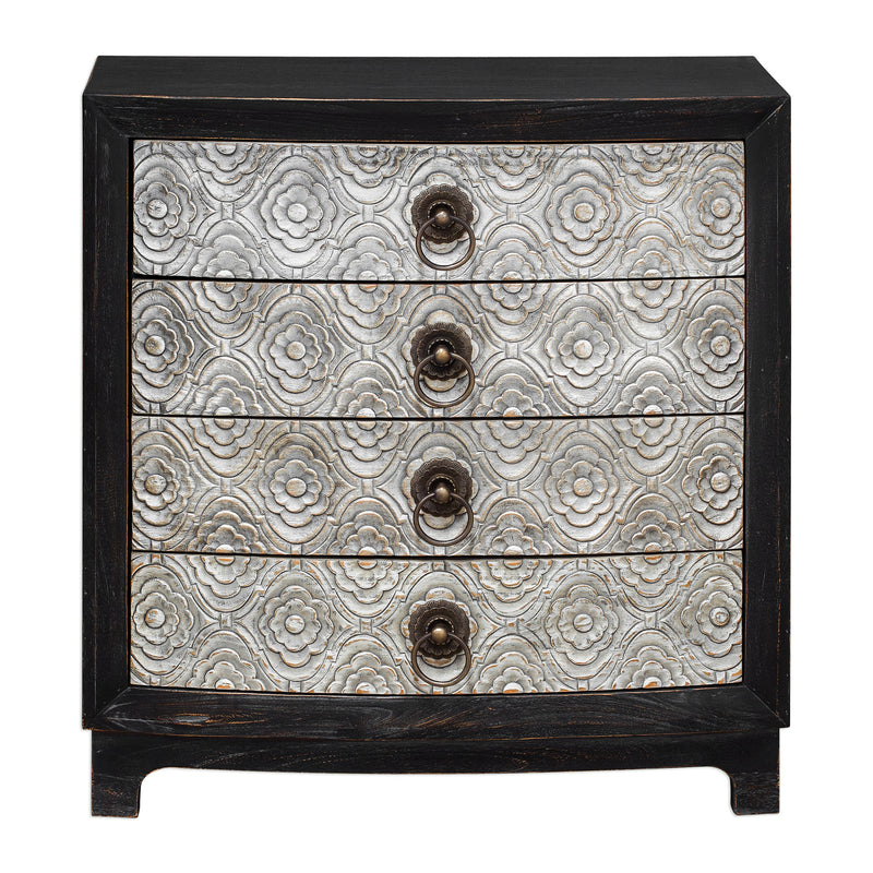Ramila Hand Carved Accent Chest