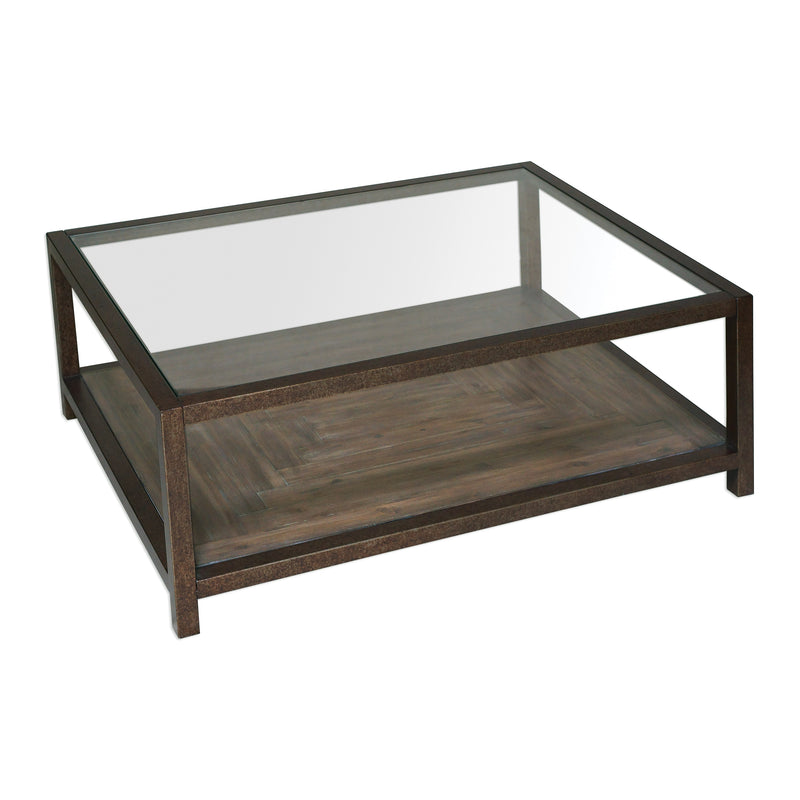 Carter Bronze & Glass Coffee Table