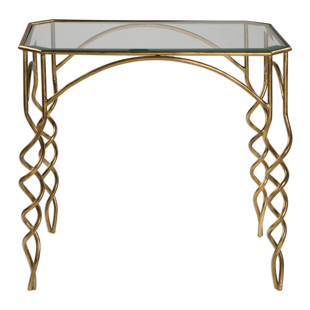 Lora Gold End Table
