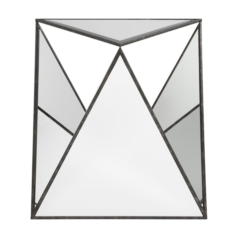 Hilaire Tripod Mirrored Accent Table