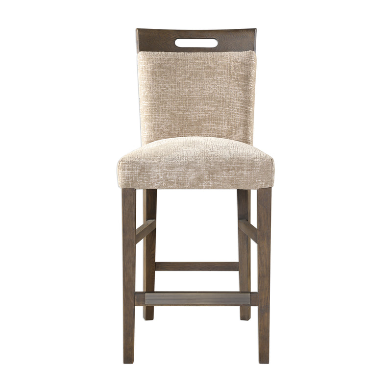 ChriSteele Caramel Counter Stool