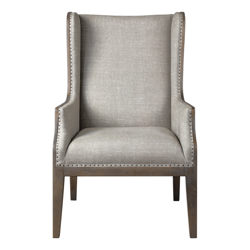 Florent Taupe-Gray Armchair
