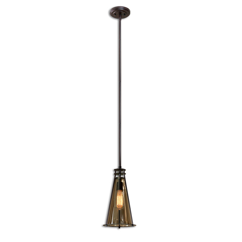 Frisco 1 Lt Black Metal Mini Pendant