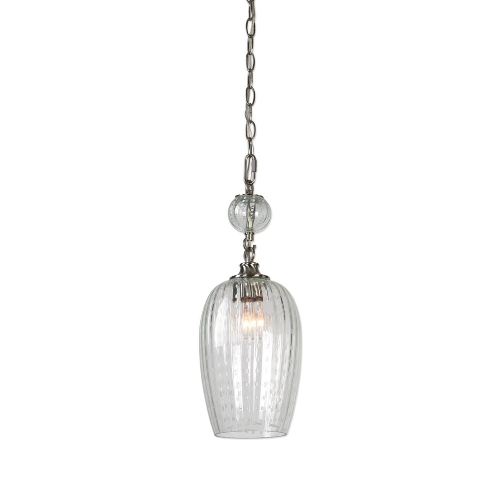 Swiss Dot 1 Light Nickel Mini Pendant