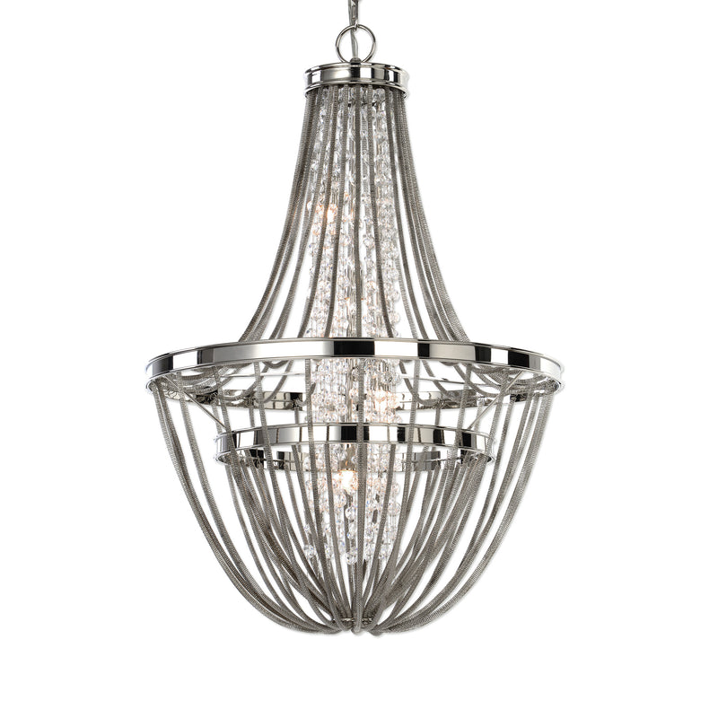 Couler Polished Nickel 4 Light Chandelier