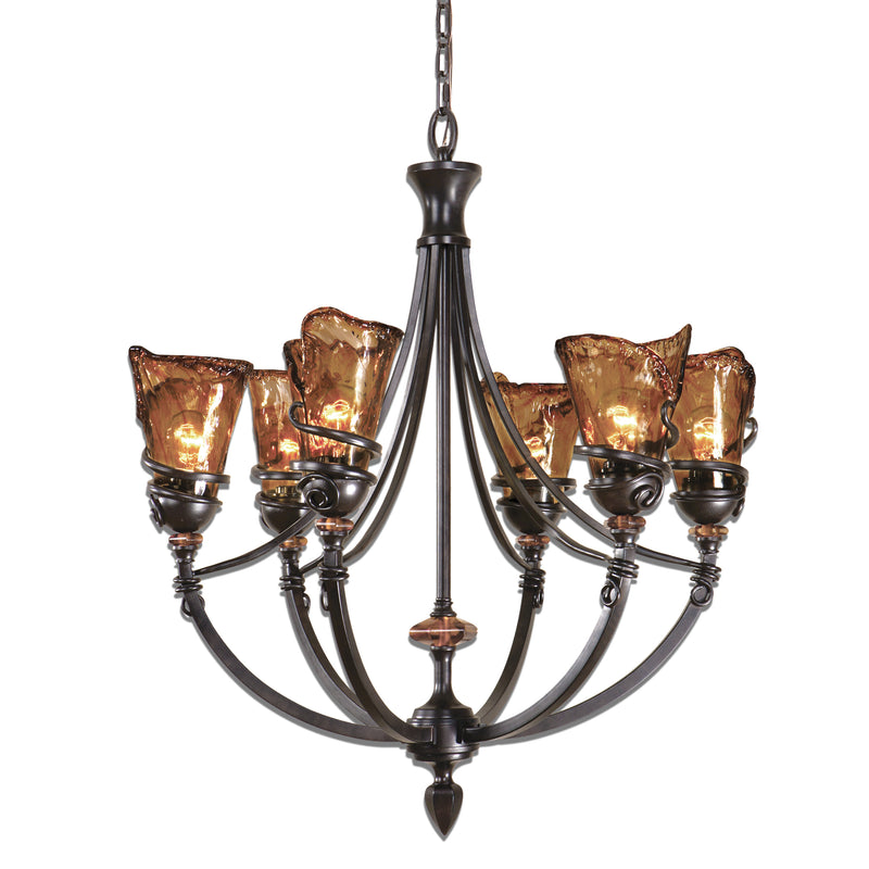 Vitalia 6Lt Oil Rubbed Bronze Chandelier