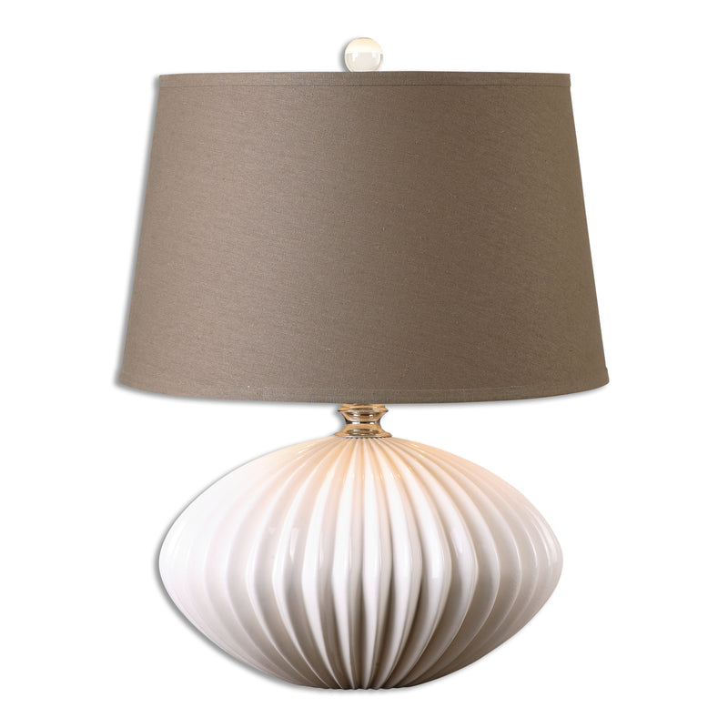 Bariano Gloss White Table Lamp