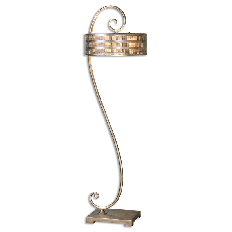 Dalou Scroll Silver Floor Lamp