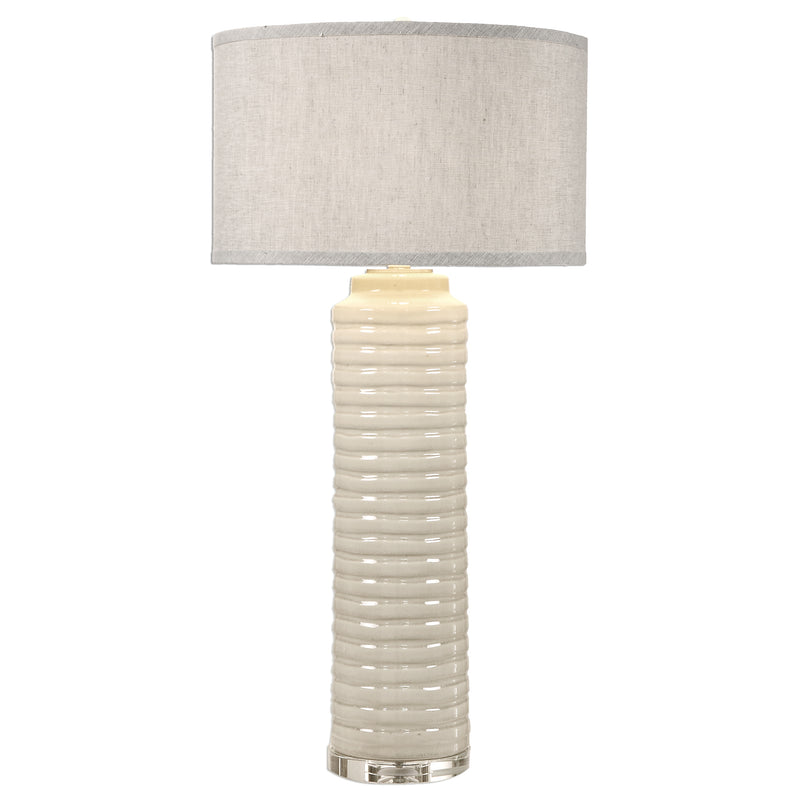 Yana Ribbed Cylinder Lamp