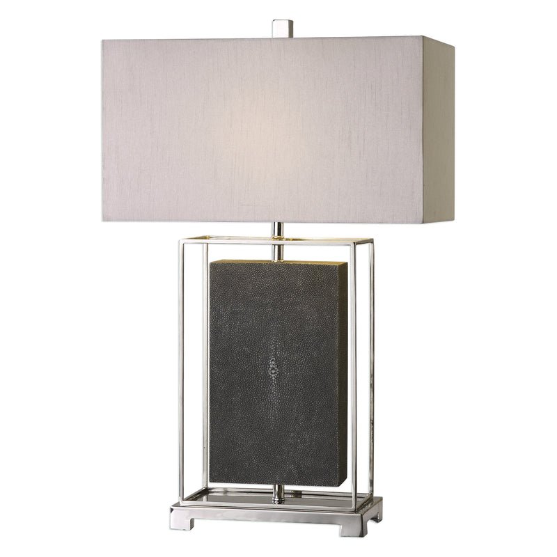 Sakana Gray Textured Table Lamp