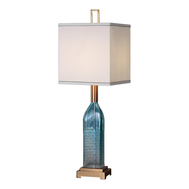 Annabella Teal Glass Accent Lamp