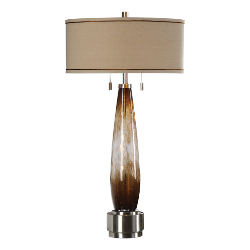 Garonne Amber & Ivory Table Lamp