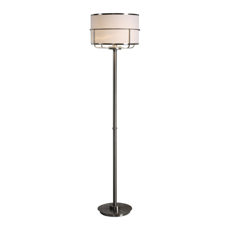 Velence Brushed Nickel Floor Lamp