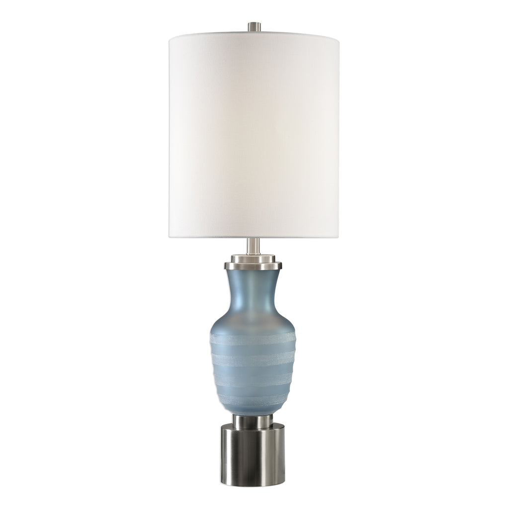 Acciano Frosted Blue Lamp