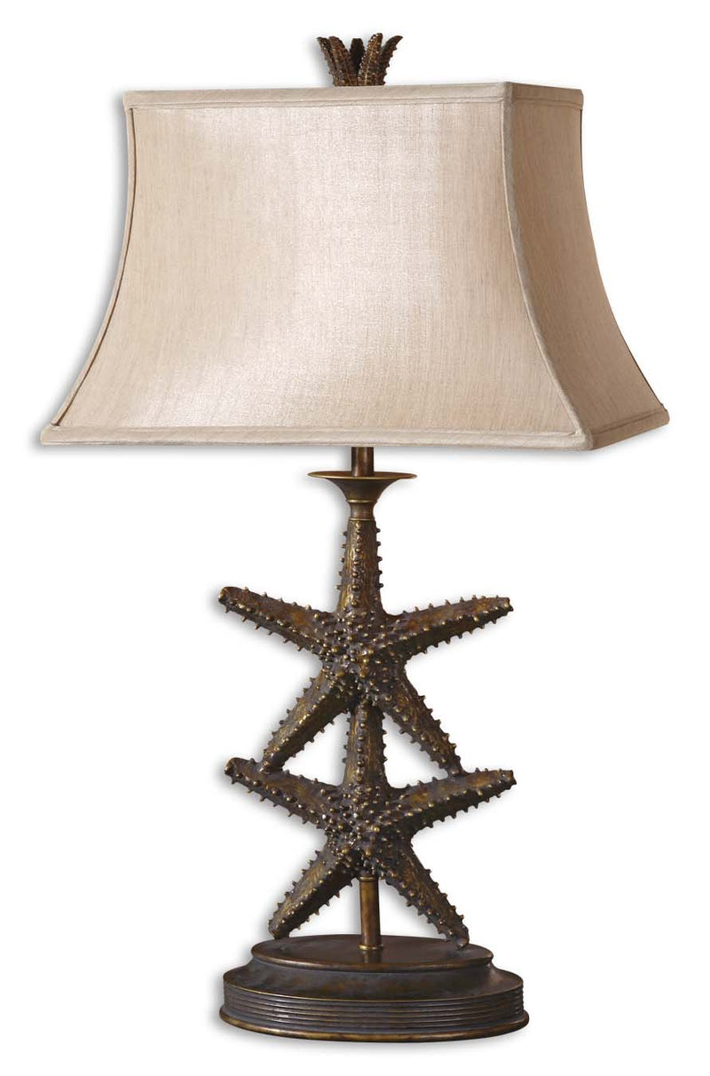 Starfish Gold Table Lamp