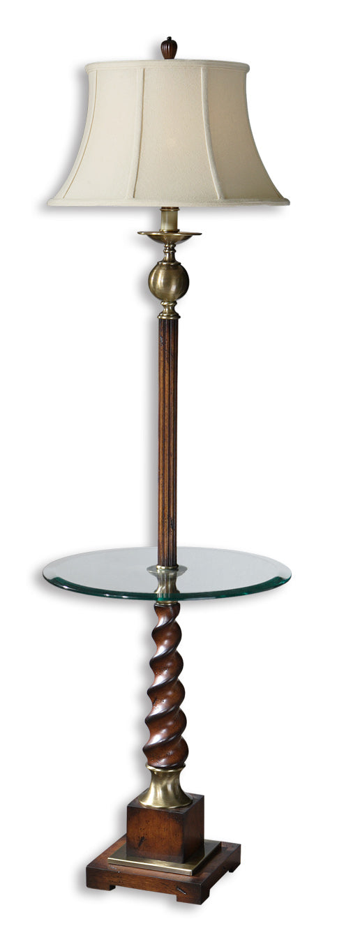 Myron Twist End Table Floor Lamp