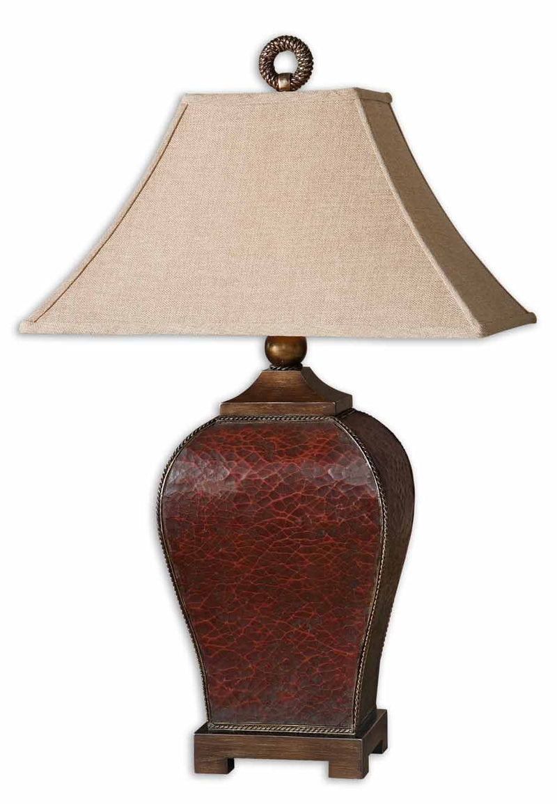 Patala Crackled Red Table Lamp
