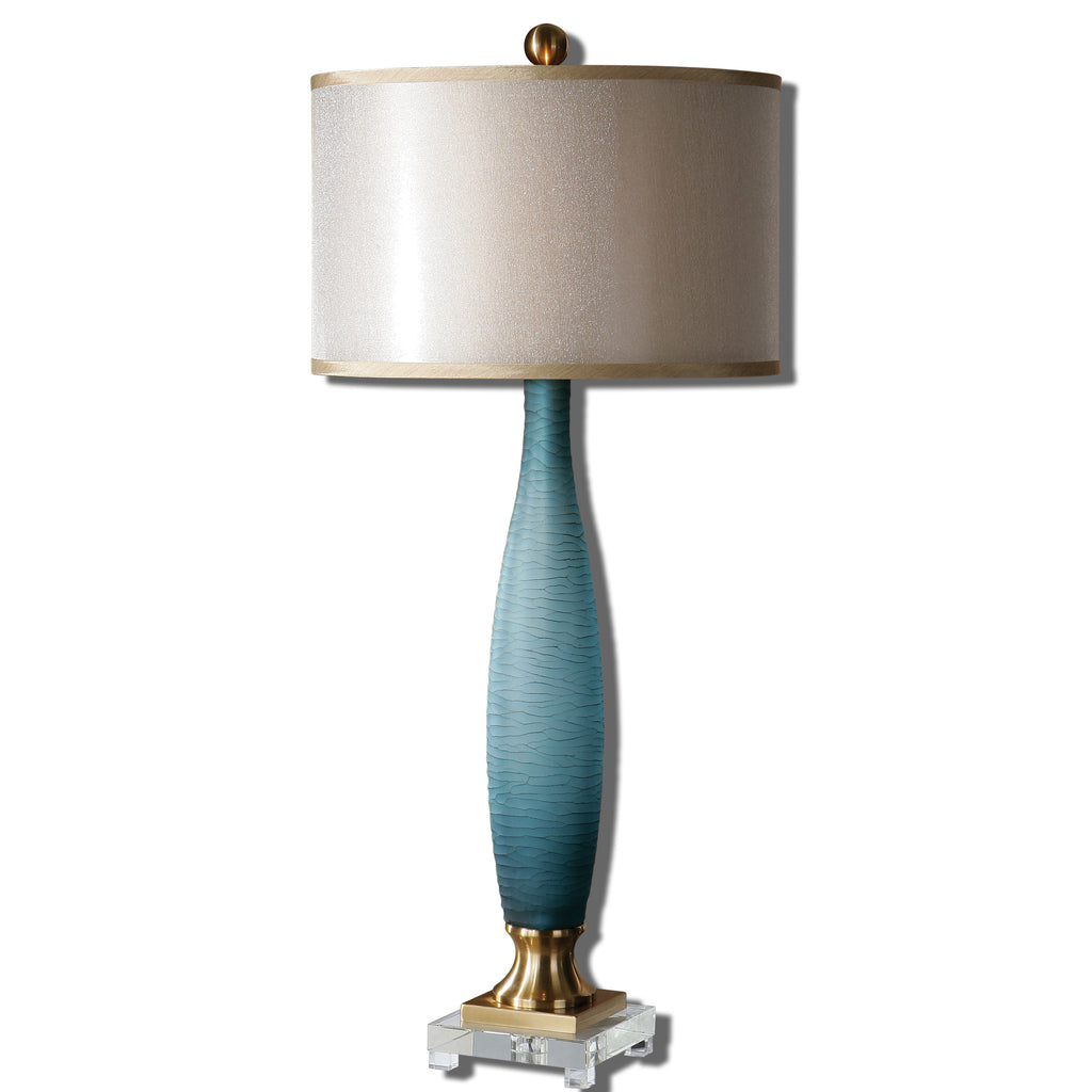 Alaia Blue Glass Table Lamp