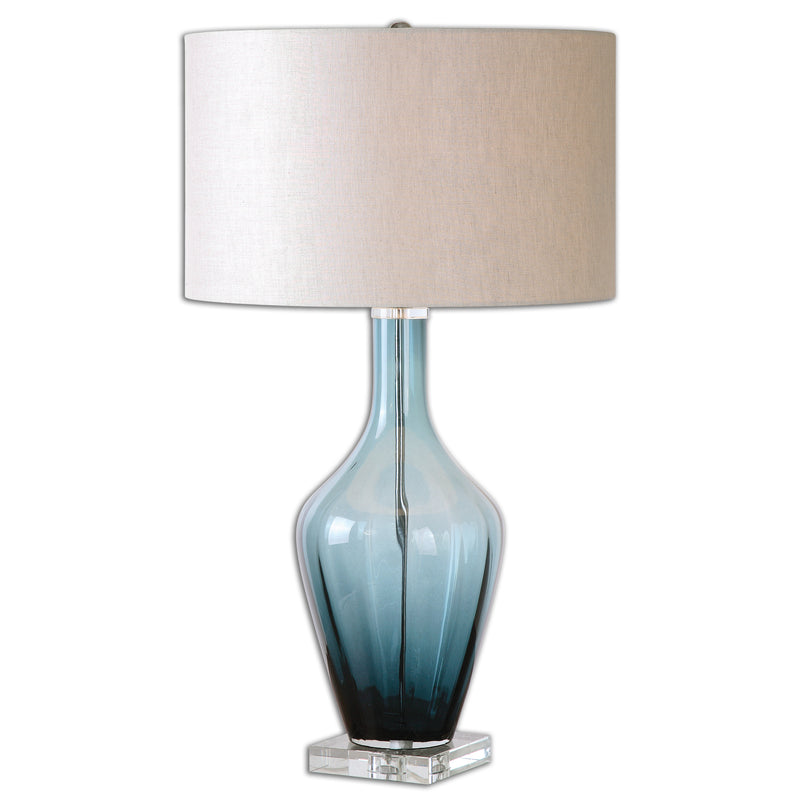 Hagano Blue Glass Table Lamp