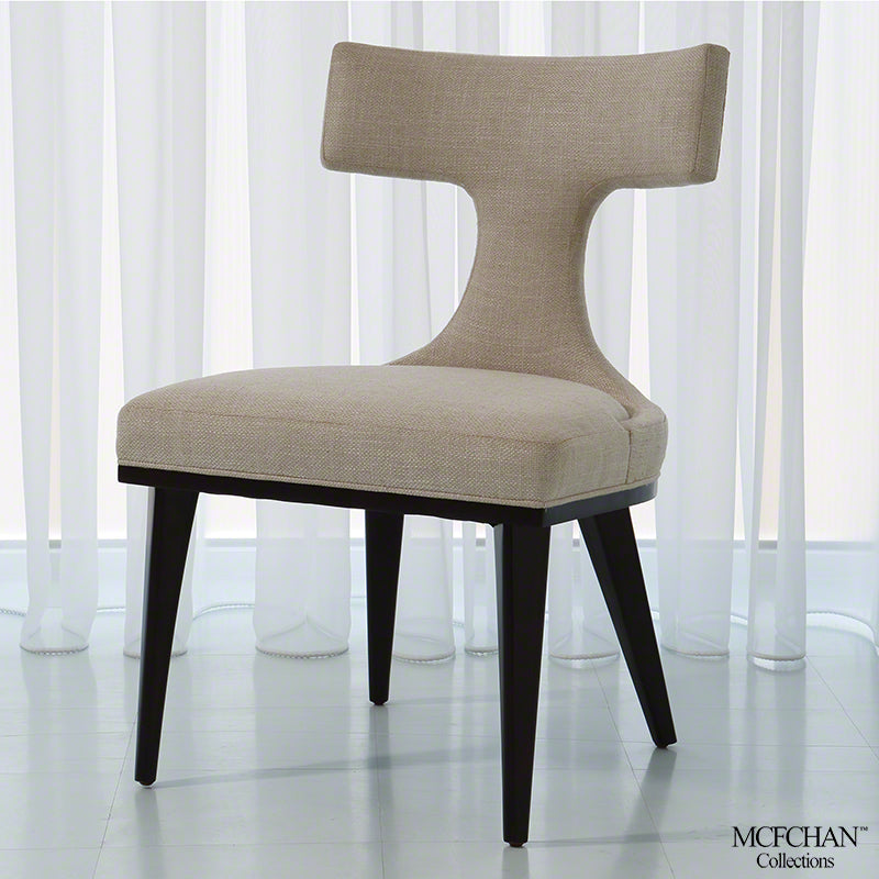Global Views Anvil Back Dining Chair Woven