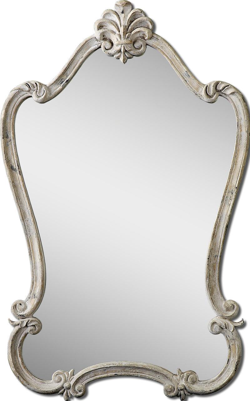 Walton Hall Antique White Mirror