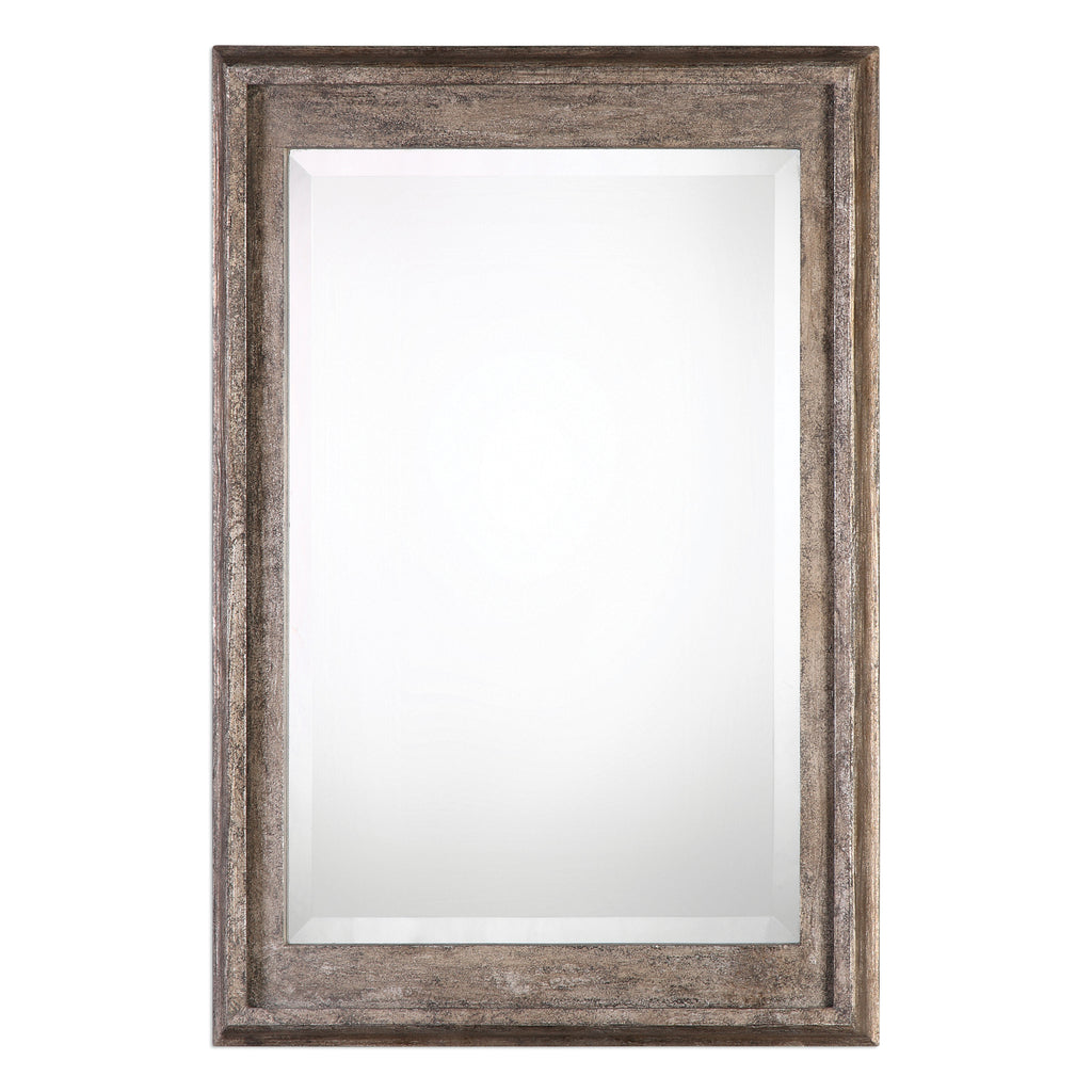 Allegan Antiqued Silver Mirror