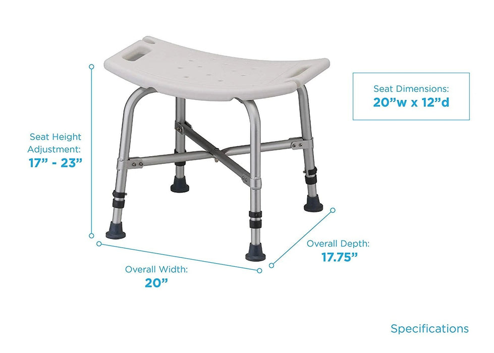 Medical Products Heavy Duty Bath Bench 500 lb Weight Capacity