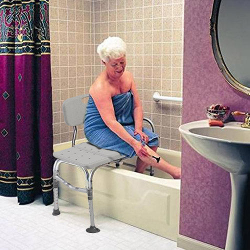 Adjustable Shower Chair Bathtub Transfer Bench Seniors Disabled