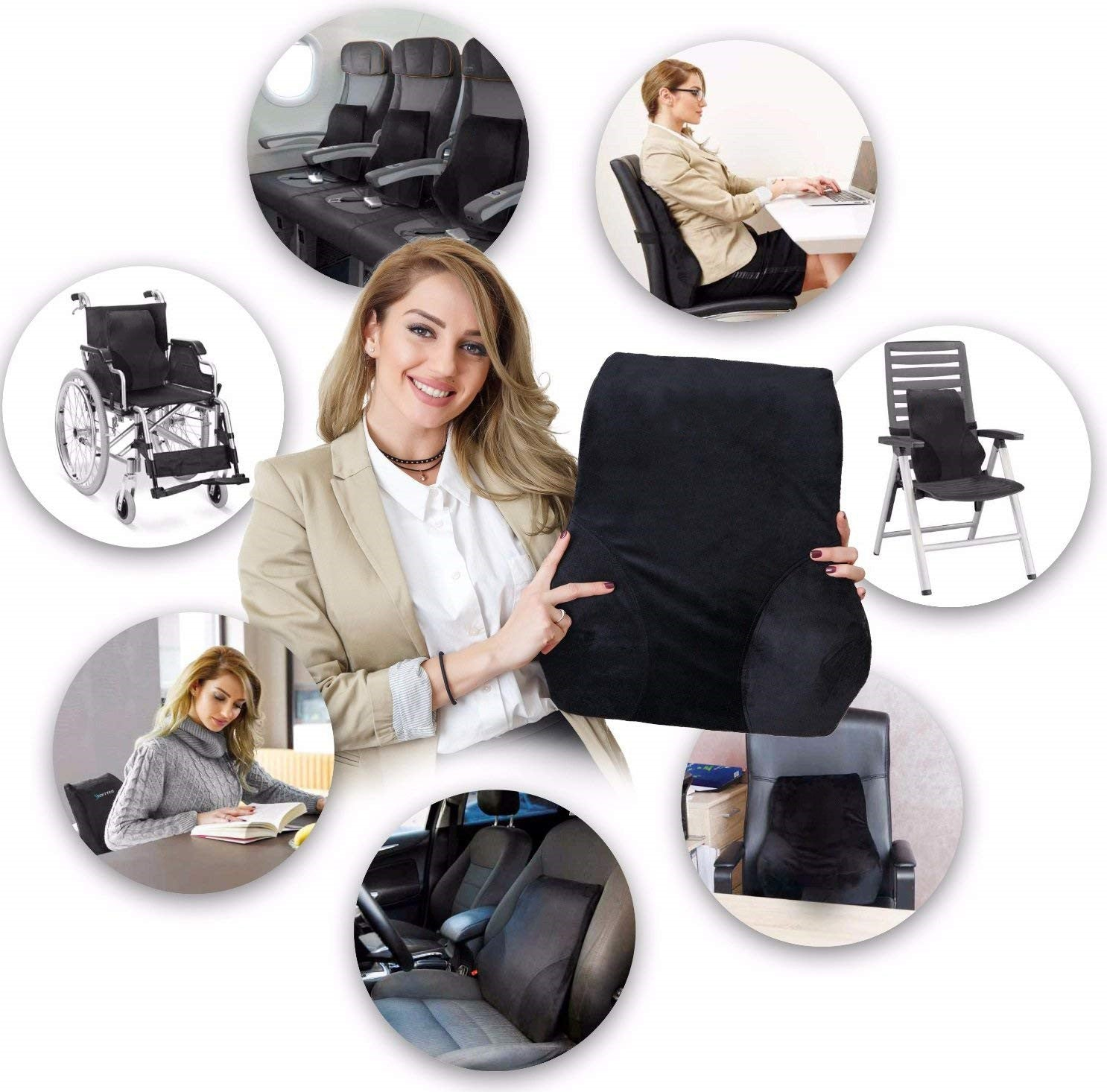 Brilliant Full Lumbar Support Premium Entire High Back Pillow For Office Desk Chair And Car Seat Creativecarmelina Interior Chair Design Creativecarmelinacom