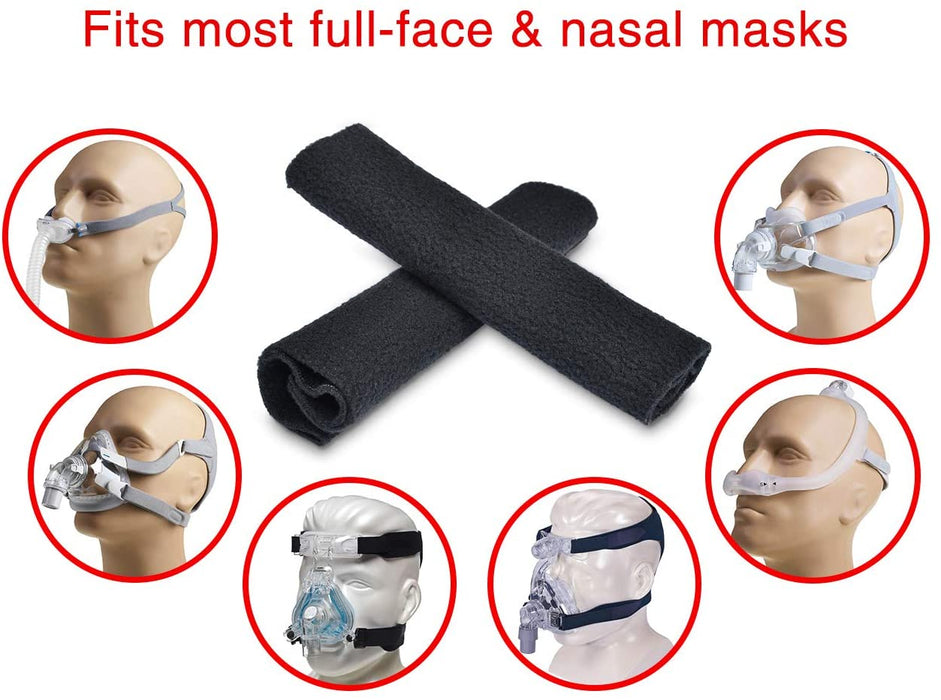 Universal Comfort BiPAP APAP CPAP Strap Covers Pads Cushion for Resmed Philips Respironics CPAP Headgear No More Strap Lines Marks On Cheeks - 2 pcs