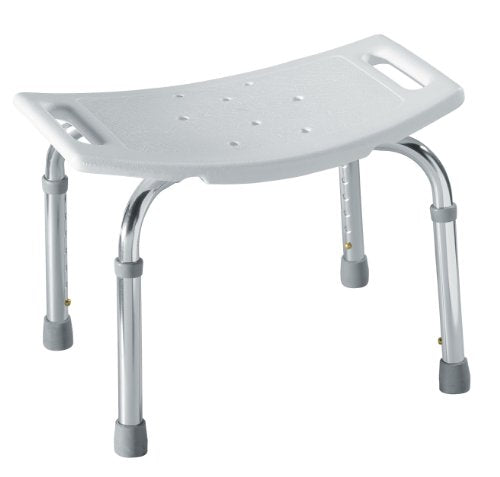 Adjustable Tub and Shower Seat, White