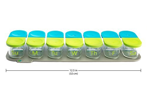 Smart Weekly Pill Organizer-AM/PM Twice a Day, 7 Day Travel Containers