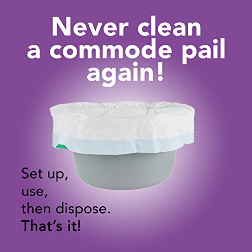 Super Absorbent Pad Disposable Commode Liner Fits Any Standard Commode Bucket or Commode Pail