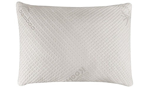 Ultra-Luxury Bamboo Memory Foam Pillow with Adjustable Fit and Zipper Removable