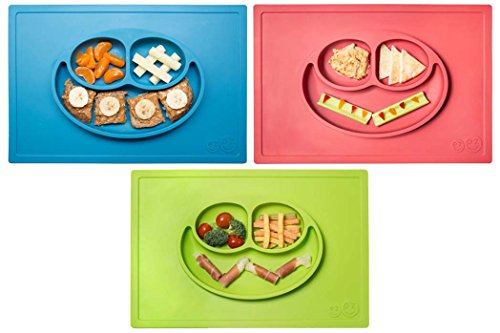 Happy Mat - One-piece silicone placemat + plate