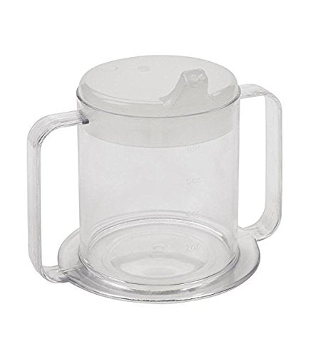 Independence 2-Handle Plastic Mug, Spill-Resistant Adult Sippy Cup