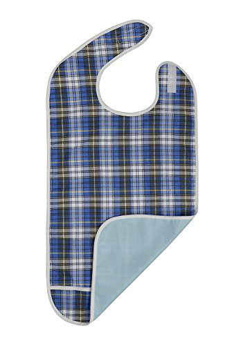 Reusable Adult Bib for the Elderly | Waterproof Clothing Protector Crumb Catcher for the dementia or Parkinson | Machine Washable