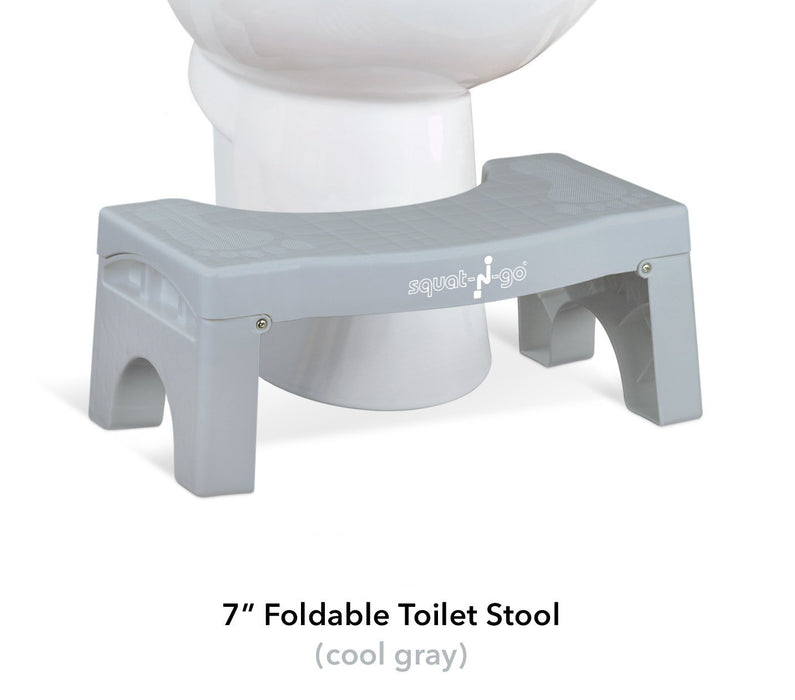 "7"" Folding Squatting Stool, Foldable, Convenient and Compact, Great for Travel"