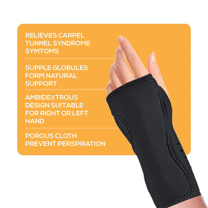 Night Wrist Sleep Support Adjustable Cushioned to Help with Carpal Relieve Wrist Pain