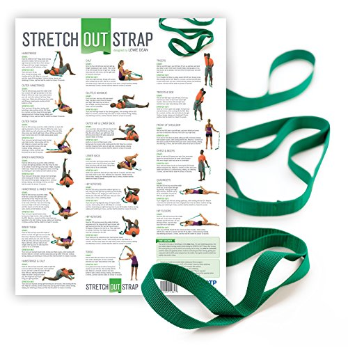 The Original Stretch Out Strap with Exercise Poster – Top Choice of Physical Therapists & Athletic Trainers-Original