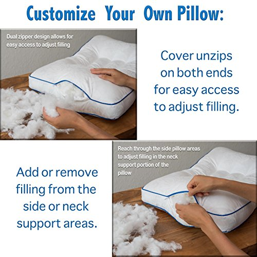 Support Pillow, Adjustable, Helps Reduce Neck Pain, Improve Cervical Health