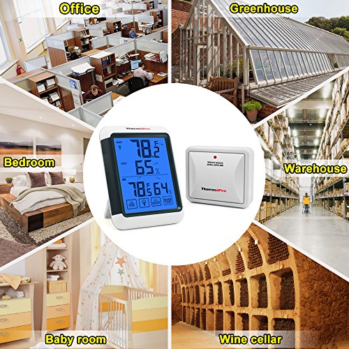 Digital Hygrometer Indoor Thermometer Humidity Gauge Touchscreen home