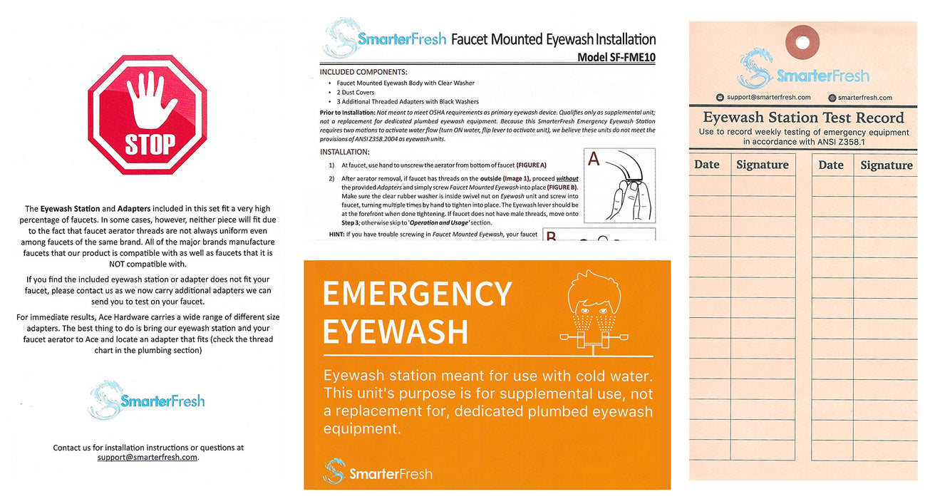 Faucet Mounted Eyewash Station Emergency Eye Wash Unit For Sink Attac Products For Health