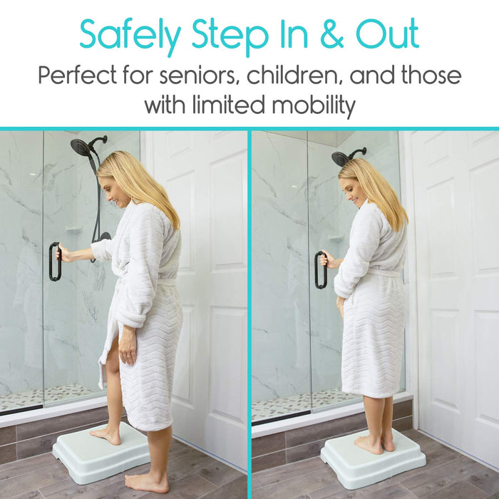 Nonslip Bathtub Step Aid for Entering/Exiting Bathtub & Reduces Risk