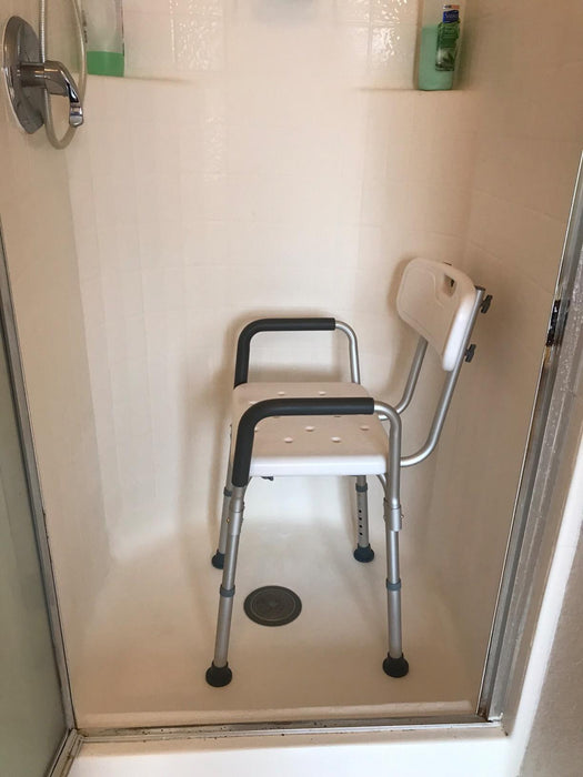 Portable Adjustable Tool-Free Assembly Spa Bathtub Shower Lift Chair