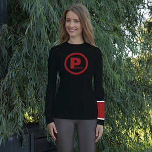 Posture Ranked Rash Guard Women | Black