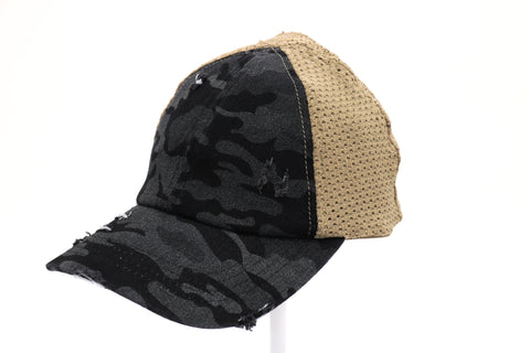 WASHED CAMO PONY CAP